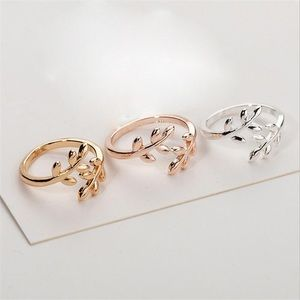 Jewelry - Adjustable Olive Tree Branch Leaves Ring